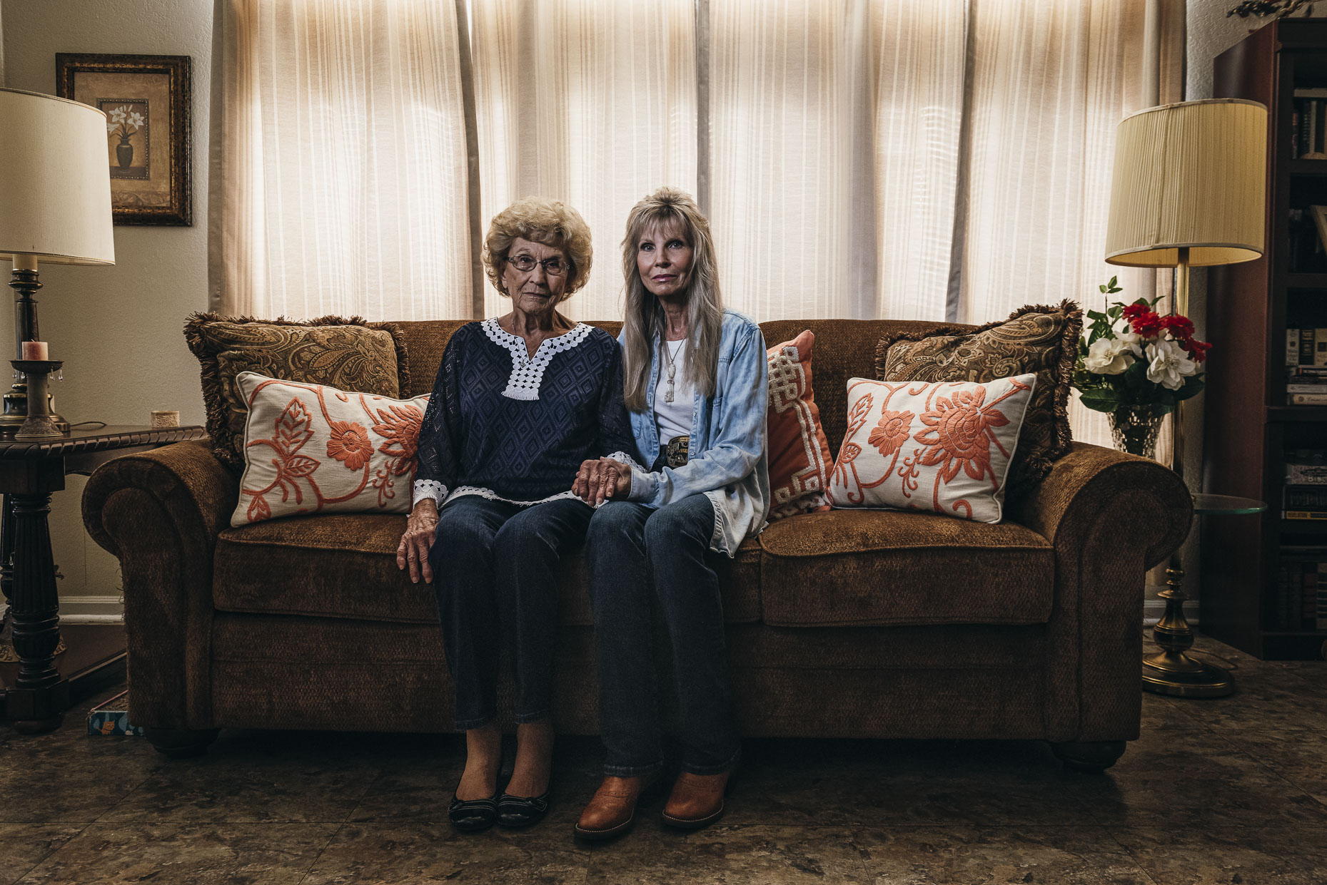 Elderly-mother-and-daughter-portrait-documentary-South-Texas