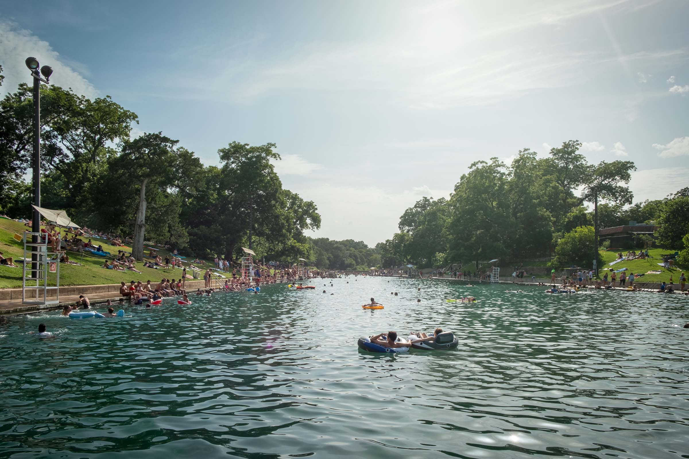 Bathers enjoying  Austin