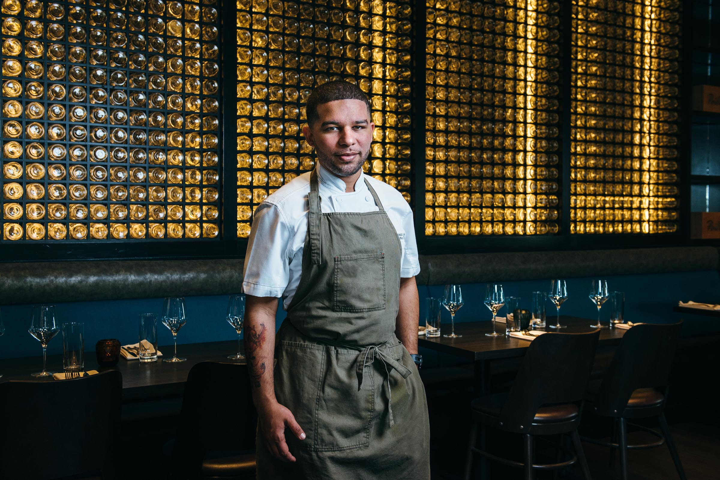 Chef portrait - Dominick Lee at Poitin Restaurant Houston TX