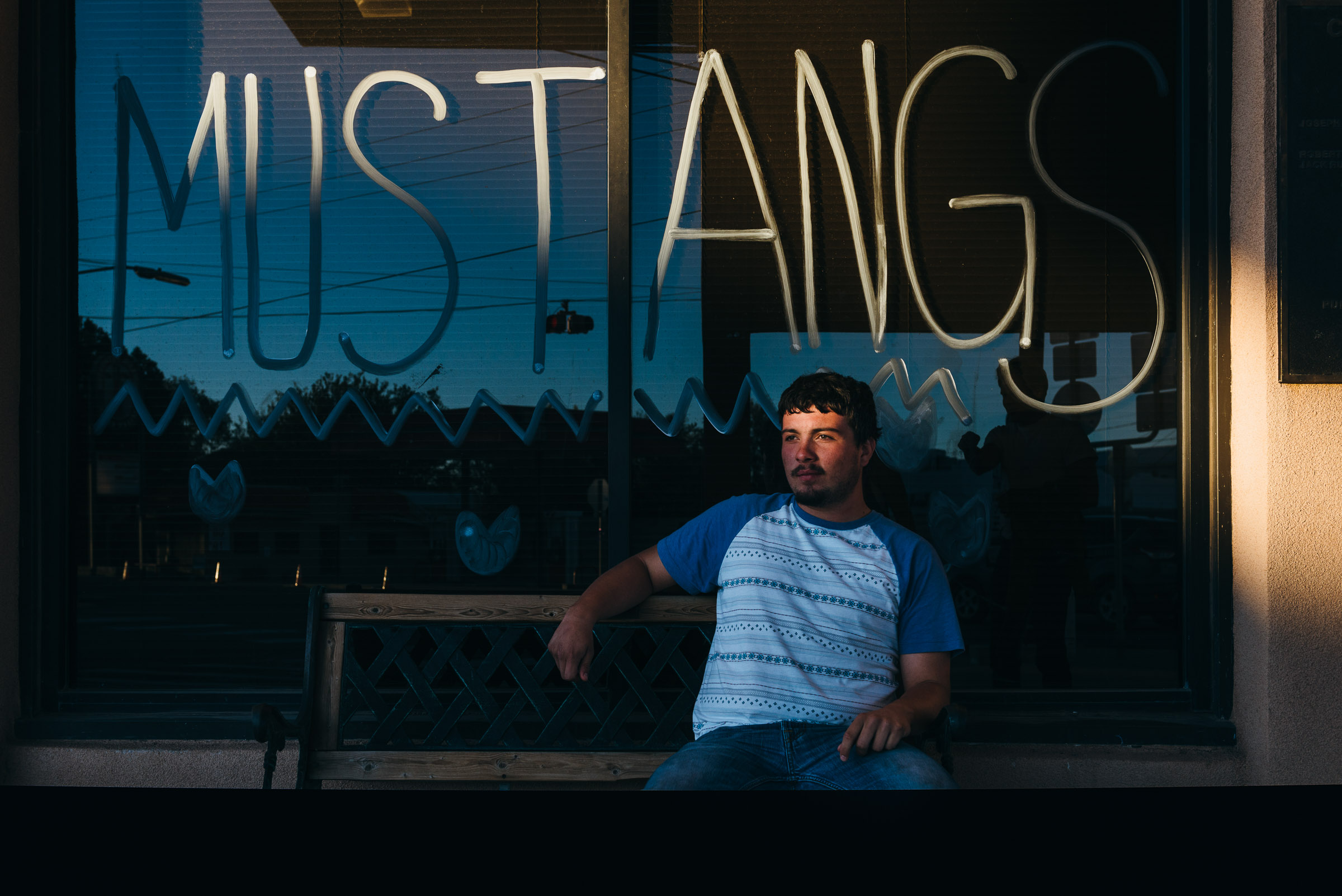 Photojournalism portrait of a young man - Mustangs School Rally -Marfa-TX-1