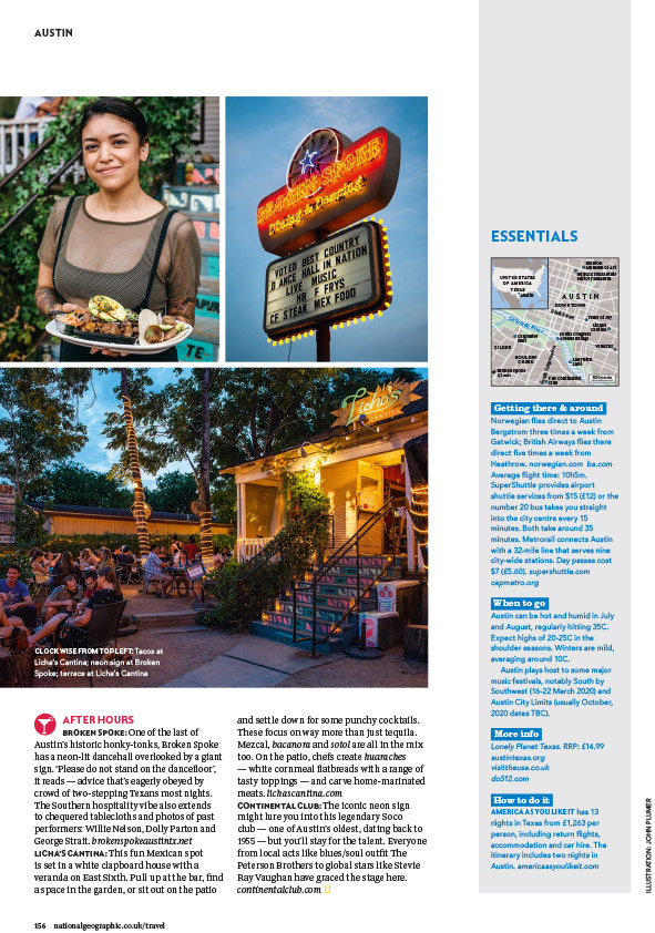 Austin City Life Editorial Photography - National Geographic Traveller UK Tear Sheet -4
