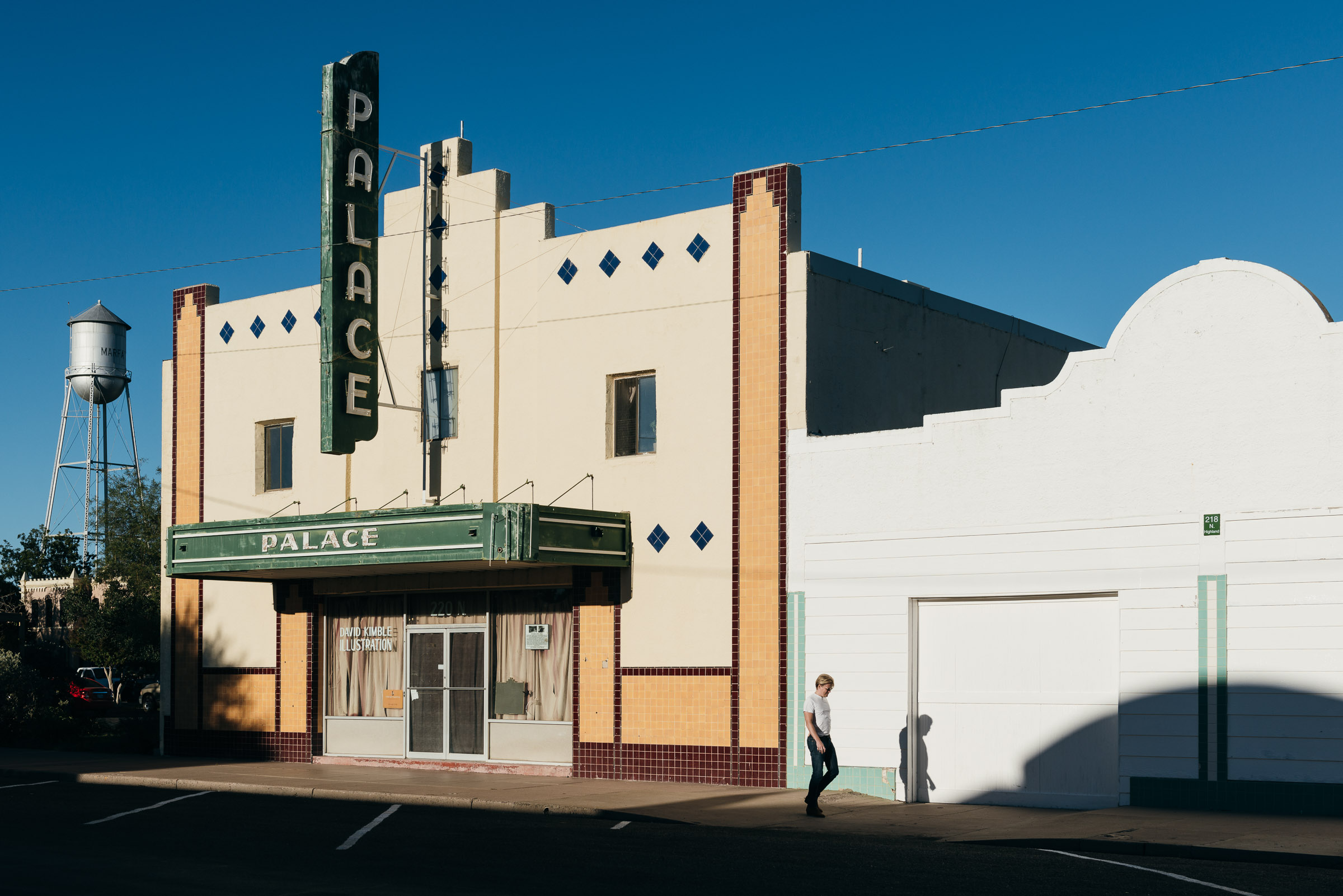Exterior- old movie house -Palace-Theatre-Marfa-TX