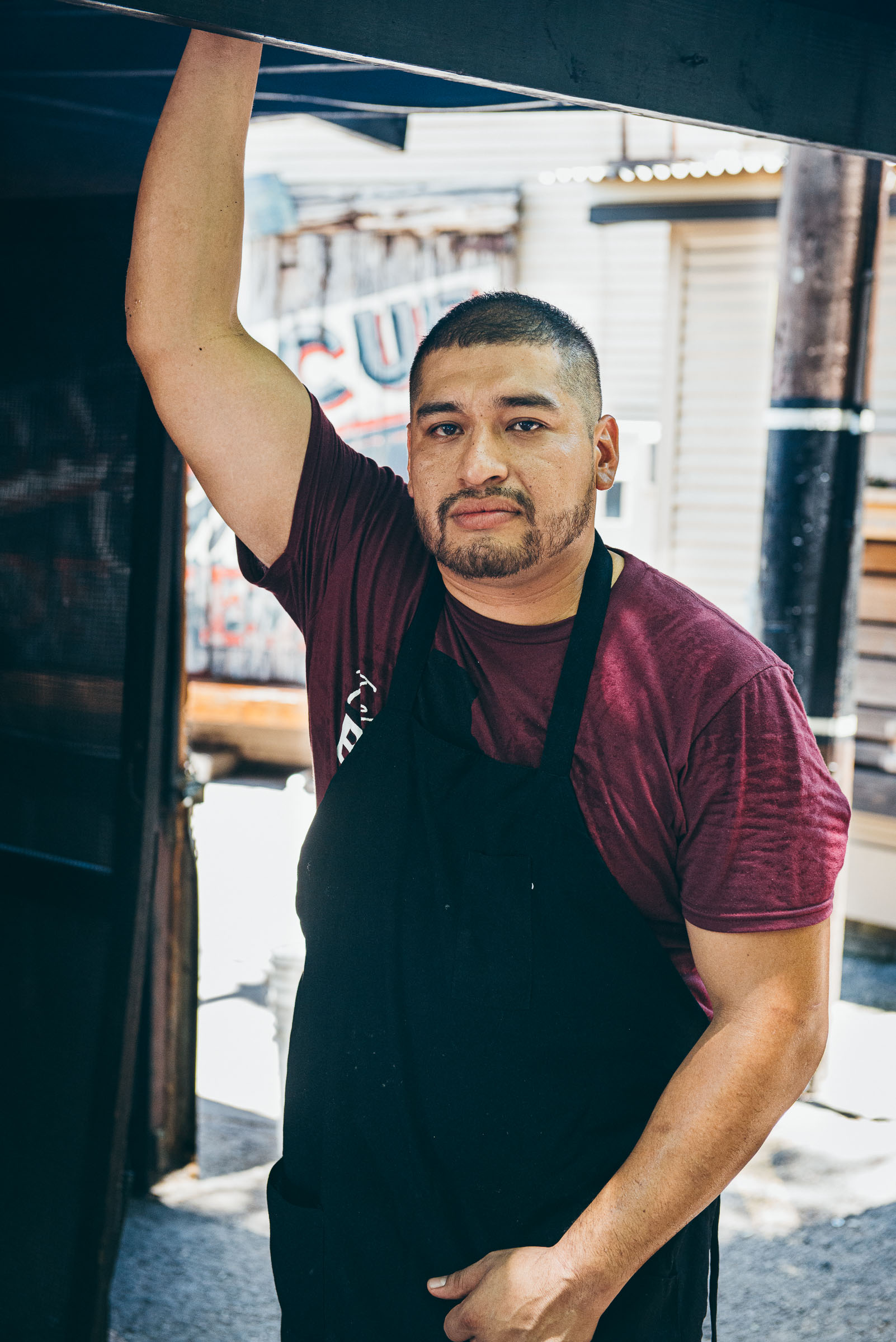 Portrait-pit-worker, Blacks-BBQ-Austin-TX