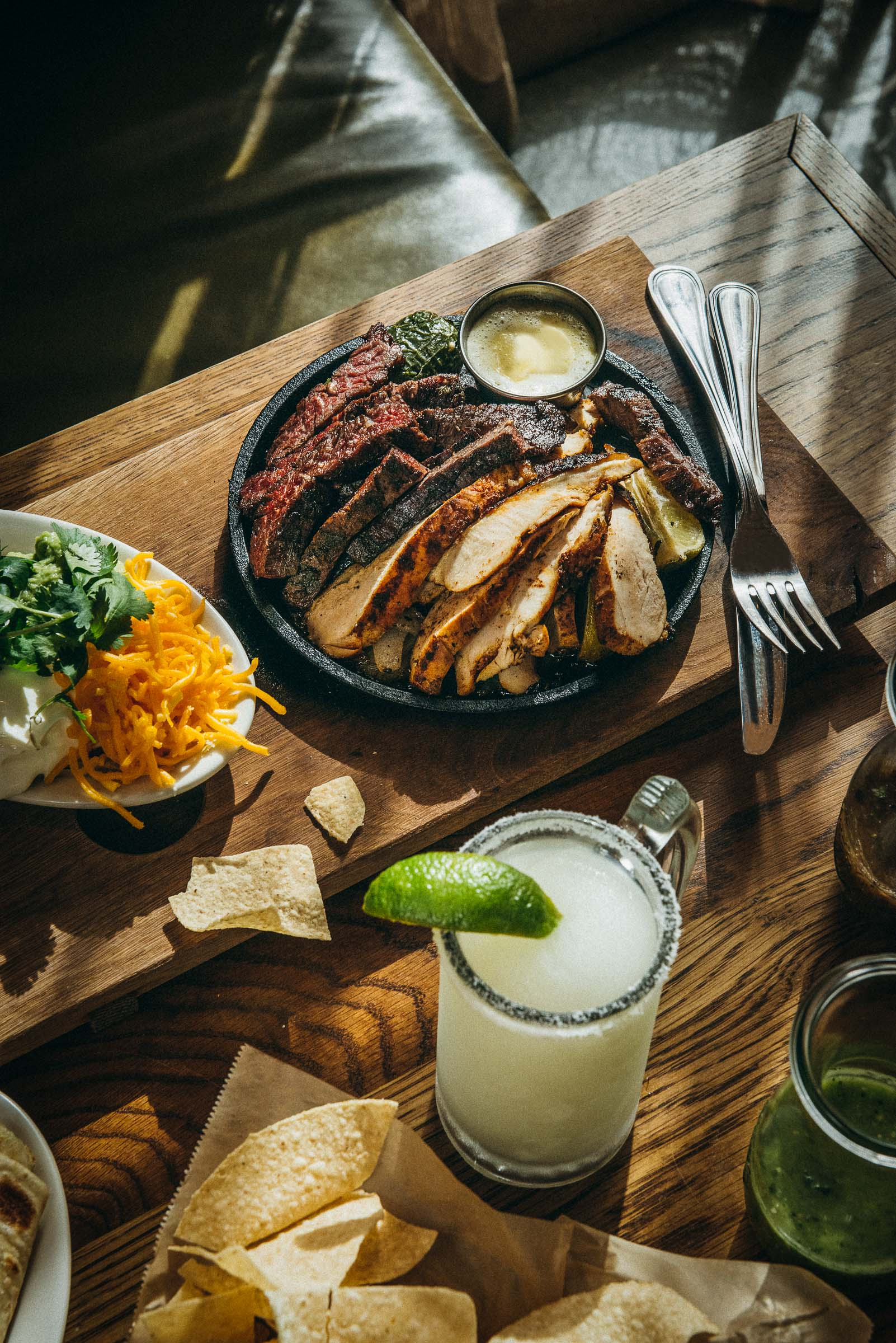 Fajitas and margaritas -Superica Restaurant Houston-TX
