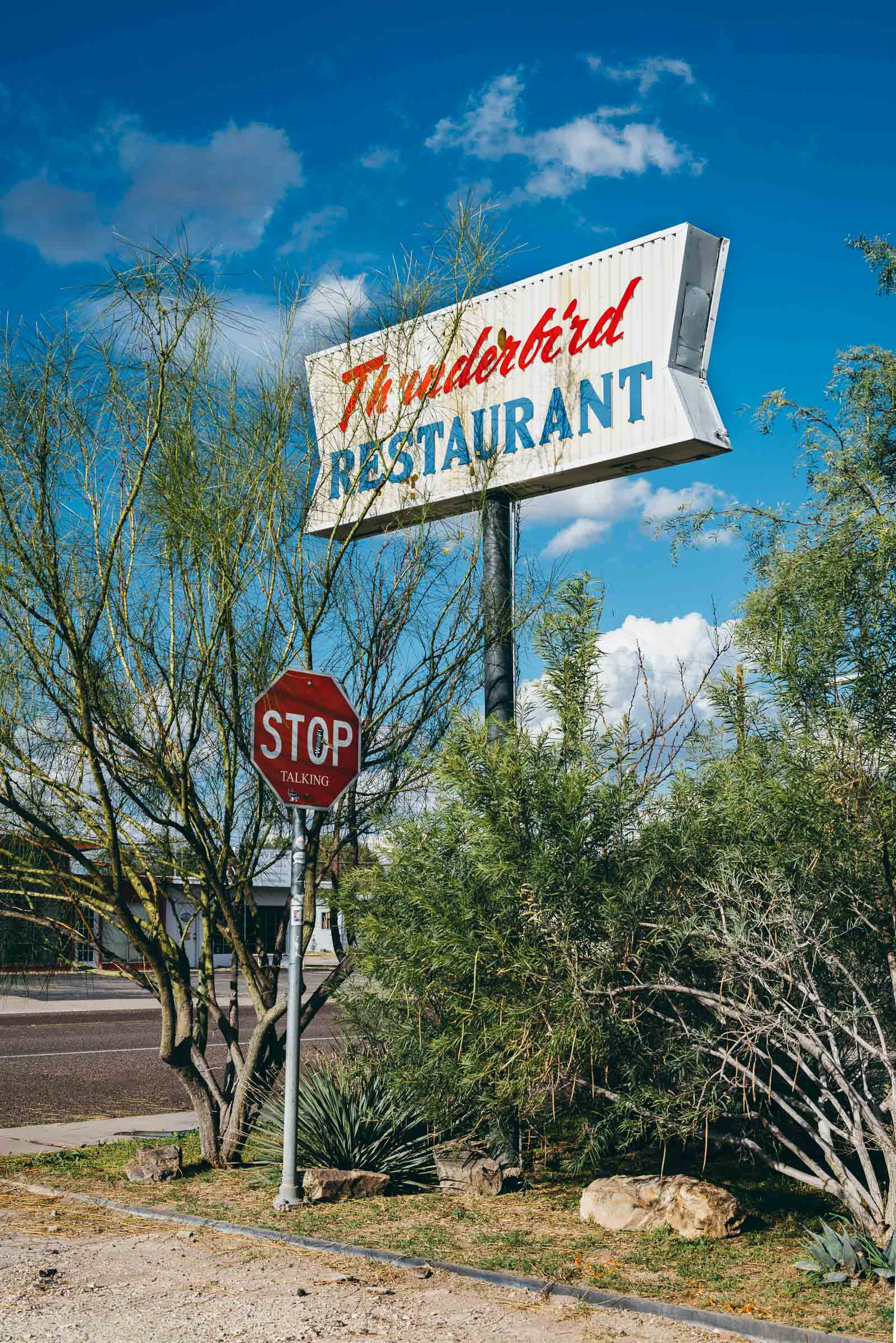 Thunderbird Restaurant Sign, Marfa-TX