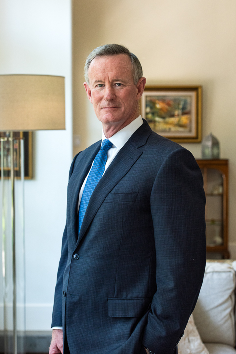 Retired Four Star Admiral William McRaven photographed at his home in Austin, TX.